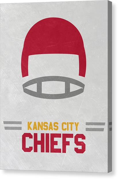Kansas City Chiefs Canvas Print - Kansas City Chiefs Vintage Art by Joe Hamilton