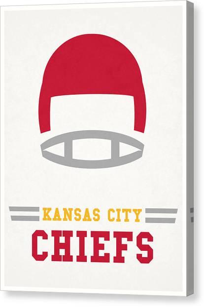 Kansas City Chiefs Canvas Print - Kansas City Chiefs Vintage Nfl Art by Joe Hamilton