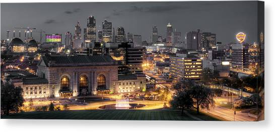 Missouri Canvas Print - Kansas City Skyline by Ryan Heffron