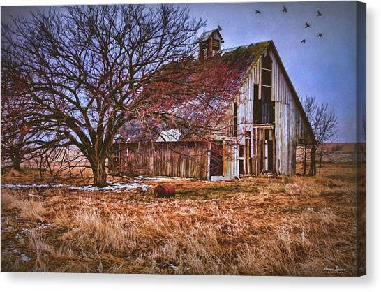 Kansas Countryside Old Barn Canvas Print
