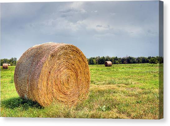 Kansas Hay Bale Canvas Print