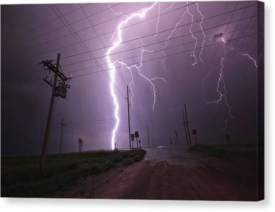 Kansas Lightning Canvas Print