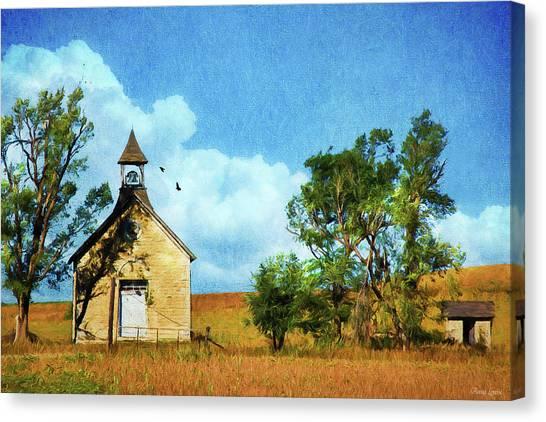 Kansas Prairie Schoolhouse Canvas Print
