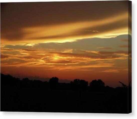 Kansas Summer Sunset Canvas Print