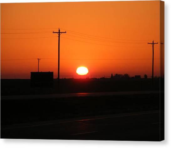 Kansas Sunrise Canvas Print