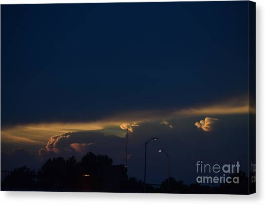 Kansas Sunset Angel Canvas Print