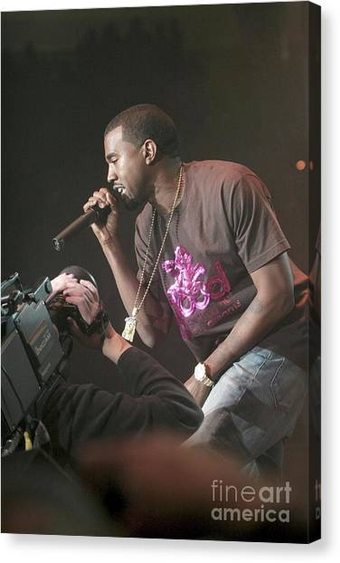 Kanye West Canvas Print - Kanye West by Concert Photos