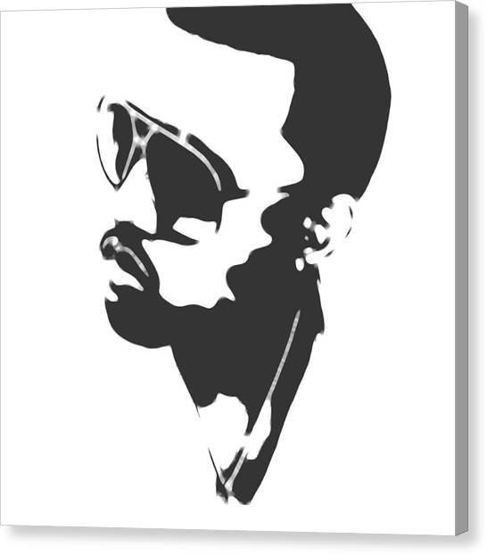 Jay Z Canvas Print - Kanye West Silhouette by Dan Sproul