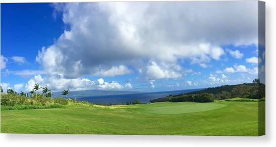 Golf Course Canvas Print - Kapalua Golf In Maui by Stacia Weiss