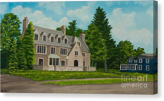 Kappa Delta Canvas Print - Kappa Delta Rho North View by Charlotte Blanchard