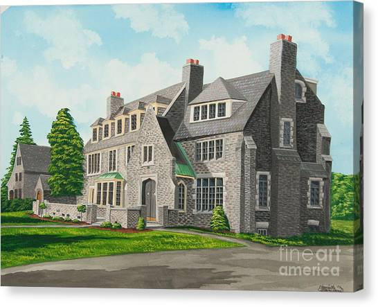 Sorority Canvas Print - Kappa Delta Rho South View by Charlotte Blanchard