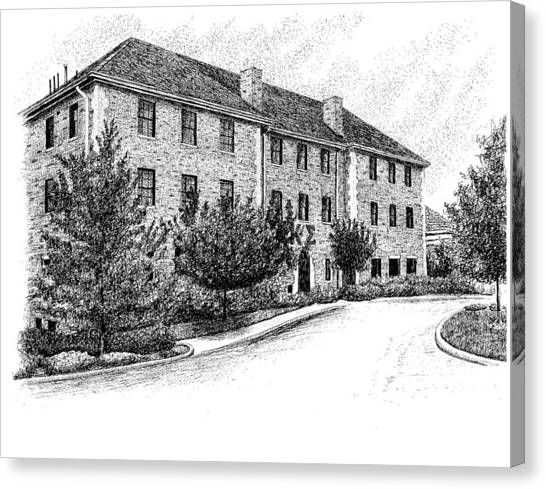 Kappa Sigma Canvas Print - Kappa Sig Fraternity House, Bloomington,indiana by Stephanie Huber
