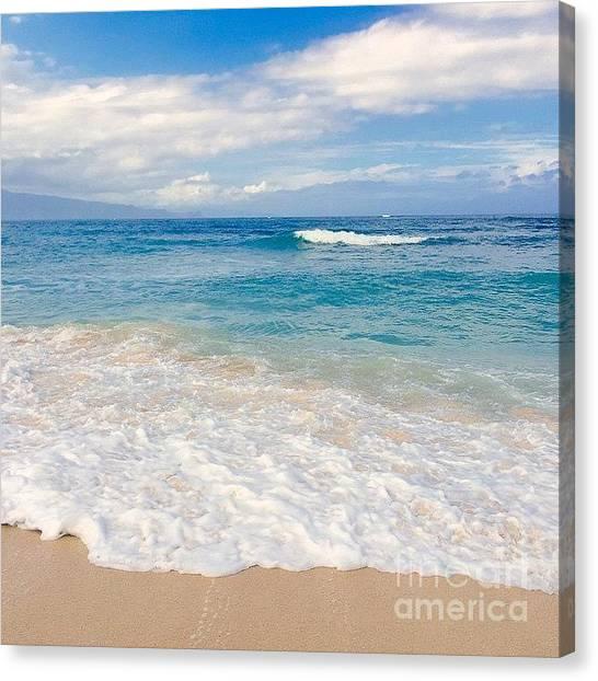 Hawaii Canvas Print - Kapukaulua Beach Maui Hawaii by Sharon Mau