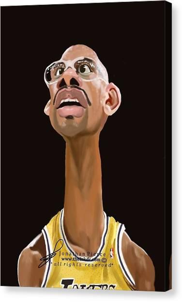 La Lakers Canvas Print - Kareem Abdul Jabar by Jonathan Pierce