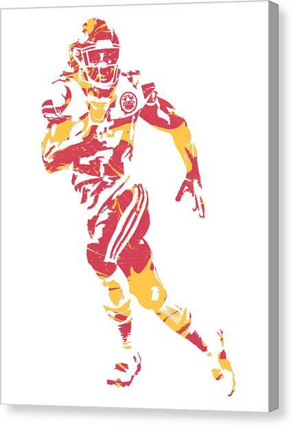 Kansas City Chiefs Canvas Print - Kareem Hunt Kansas City Chiefs Pixel Art 2 by Joe Hamilton
