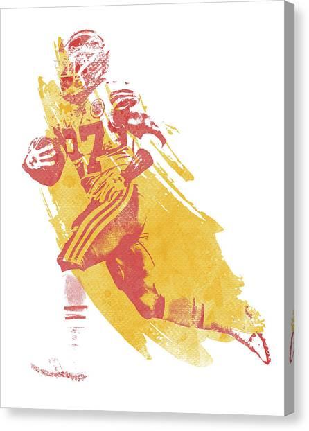 Kansas City Chiefs Canvas Print - Kareem Hunt Kansas City Chiefs Water Color Art 2 by Joe Hamilton