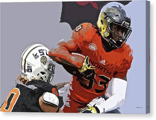 Los Angeles Chargers Canvas Print - Kareem Hunt, Toledo Rockets by Thomas Pollart