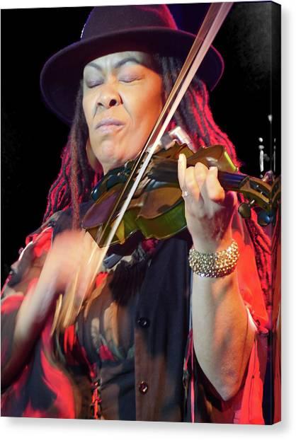 Karen Briggs 2017 Hub City Jazz Festival - In The Moment Canvas Print