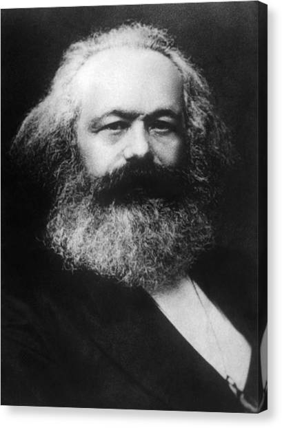 Jt History Canvas Print - Karl Marx 1818-1883 by Everett