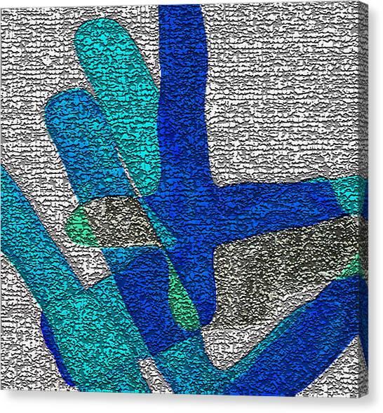 Karlheinz Stockhausen Tribute Falling Shapes Digital One Canvas Print