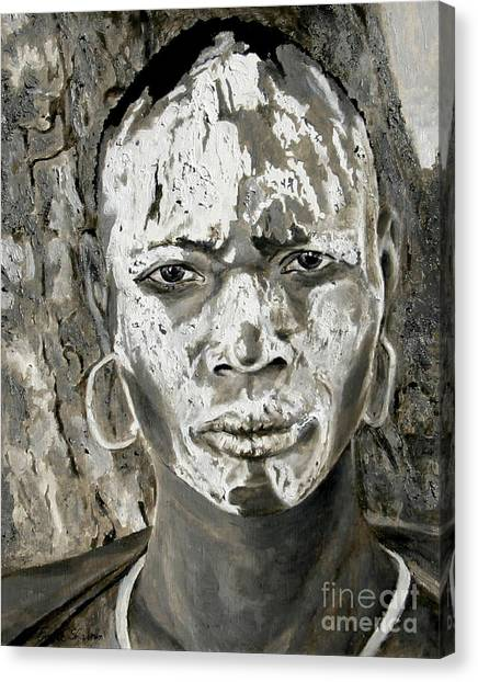 Karo Man Canvas Print