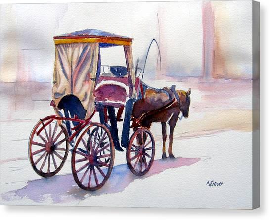 Horse Canvas Print - Karozzin by Marsha Elliott