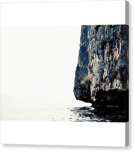 Karsts Canvas Print - #karst #thailand #texture #onvacation by Senjuti Kundu