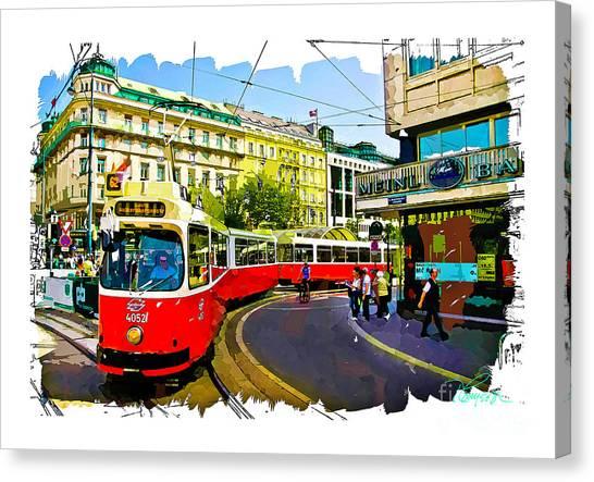 Kartner Strasse - Vienna Canvas Print