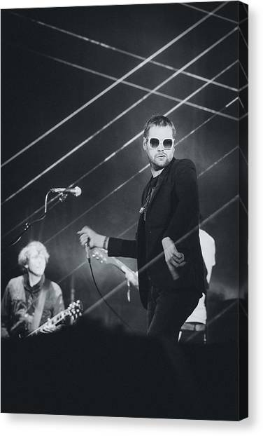 Velociraptor Canvas Print - Kasabian Playing Live by Marco Oliveira