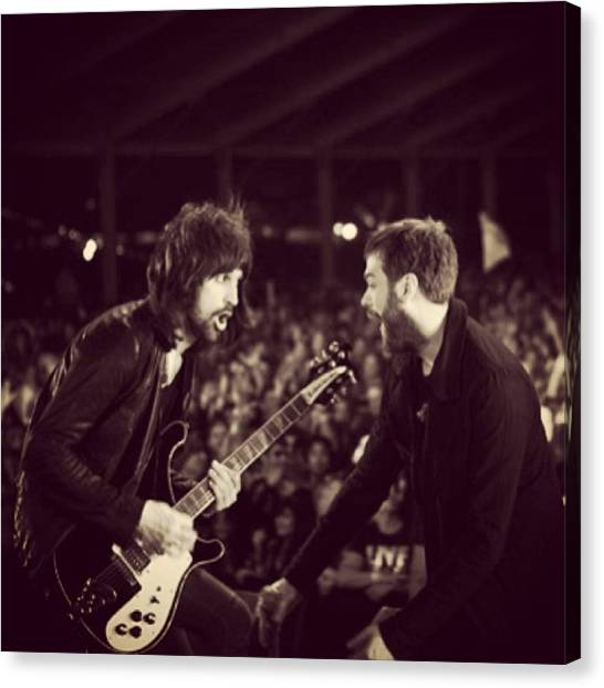 Rock And Roll Canvas Print - Kasabian by Stew Lamb