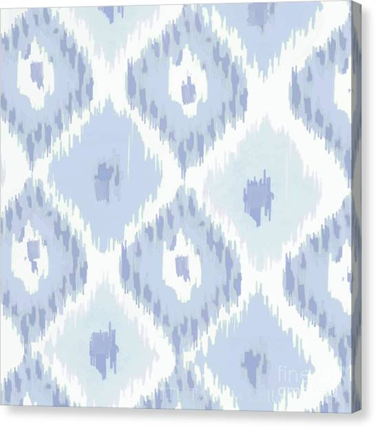 Pattern Canvas Print - Kasbah Blue Ikat by Mindy Sommers