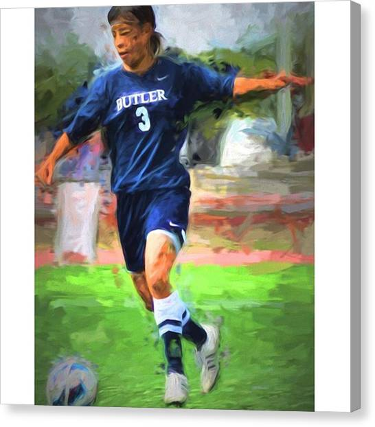 Soccer Canvas Print - #kashimoto #butleruniversity by David Haskett