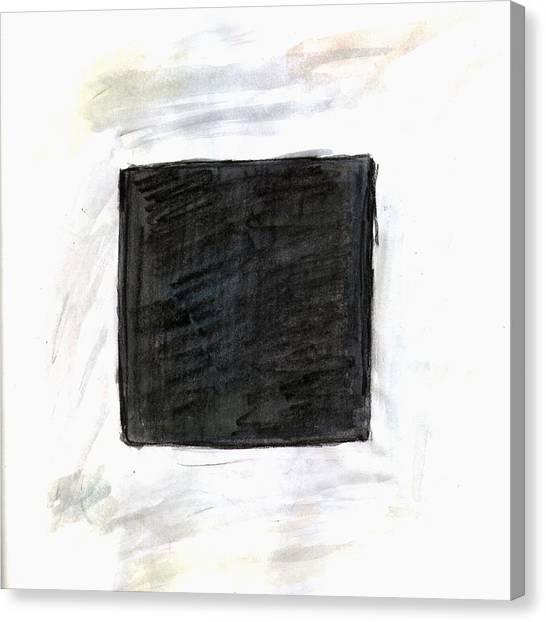 Jasper Johns Canvas Print - Kasimir Malevich Flying American West by Kevin Callahan