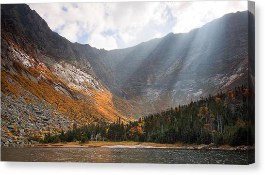 Katahdin And Chimney Pond Canvas Print