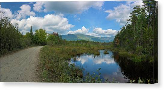 Katahdin In The Clouds Canvas Print