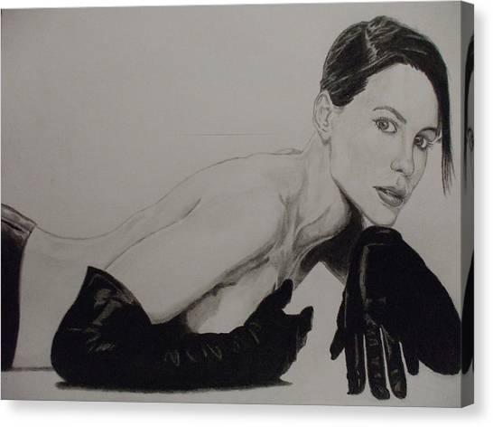 Kate Beckinsale Canvas Print by John Prestipino