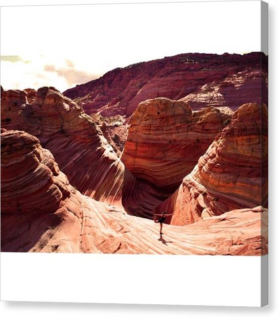 Scotty Canvas Print - Kate Finding Inner Peace 😆 @ Wave by Scotty Brown