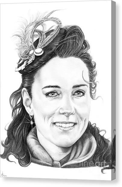 Kate Middleton Canvas Print - Kate Middleton by Murphy Elliott