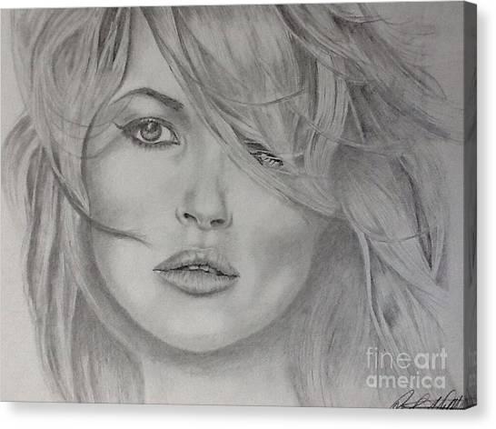 Kate Moss Fashion Model Canvas Print