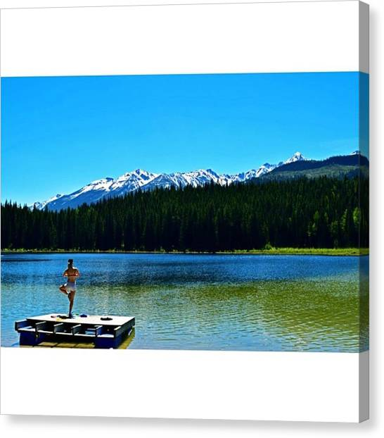 Scotty Canvas Print - Kate Relaxing At Cedar Lake #travel by Scotty Brown