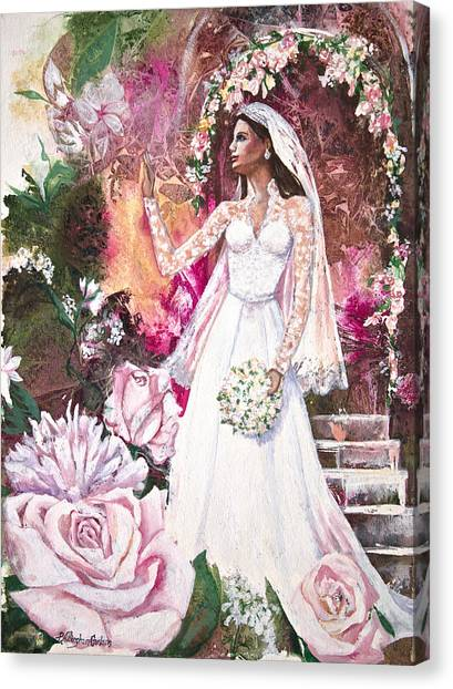 Kate Middleton Canvas Print - Kate The Princess Bride by Patricia Allingham Carlson