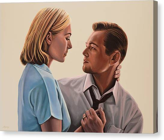 Aviators Canvas Print - Kate Winslet And Leonardo Dicaprio by Paul Meijering