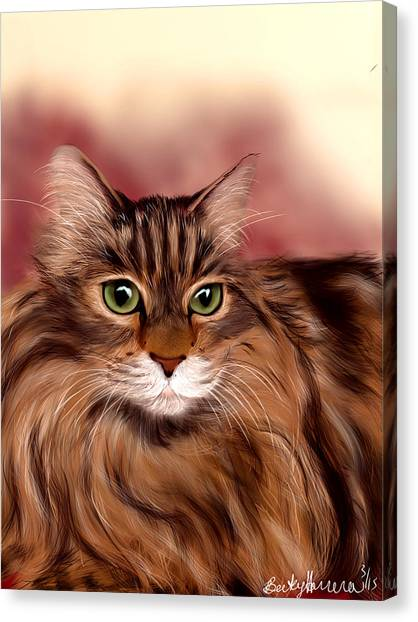 Katie- Custom Cat Portrait Canvas Print