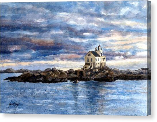 Farsund Canvas Print - Katland Lighthouse by Janet King