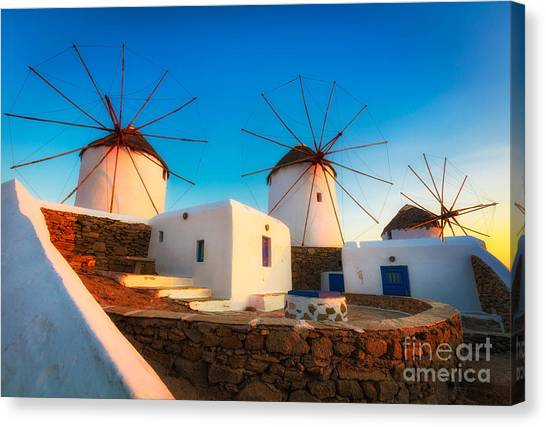Greece Canvas Print - Kato Mili by Inge Johnsson