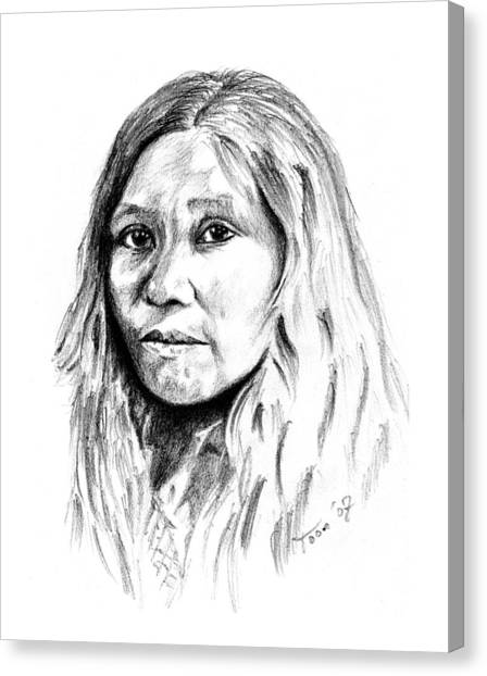 Kato Woman Canvas Print