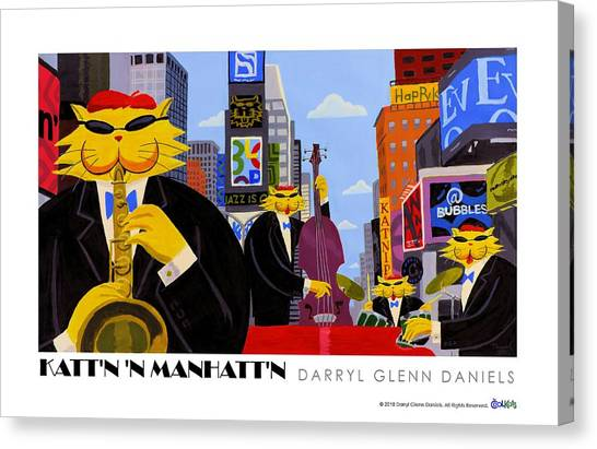 Kattn N Manhattn Canvas Print