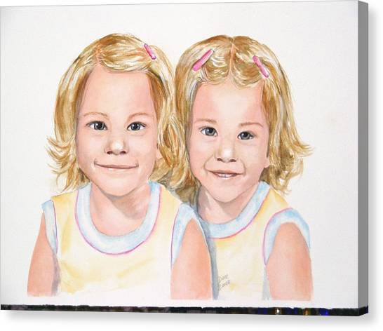 Katy And Kym Canvas Print