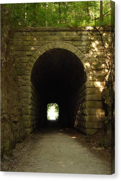 Katy Trail State Park Tunnel Canvas Print