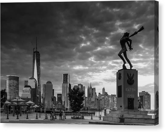 Katyn New World Trade Center In New York Canvas Print